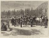 """The Queen presenting New Colours to the """"Royal Scots"""" at Ballater"""