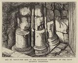 """Old St Paul's, the Base of the South-East """"Respond"""" of the Crypt recently unearthed"""