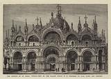 The Church of St Mark, Venice, View of the Facade which it is proposed to pull down and rebuild