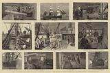 """The Voyage of the Royal Cadets Round the World, Sketches on Board HMS """"Bacchante"""""""