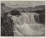 The Great Shoshone Falls, Snake River, Idaho Territory, USA