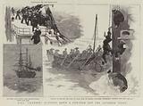 "HMS ""Leander"" running down a Sun-Fish off the Japanese Coast"