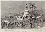 The Fighting in Upper Burma, Attack on the Village of Thebyabin by the Dacoit Chief, Bo-Shway