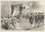 Promulgation of the New Japanese Constitution by the Emperor of Japan at Tokio
