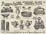 Advertisement, Mappin and Webb's Sterling Silver and Prince's Plate