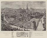 Bird's-Eye View of Norwich, the Meeting Place of the Church Congress