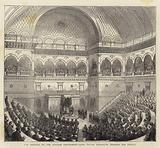 The Opening of the Italian Parliament, King Victor Emmanuel reading his Speech