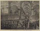 23 April 1789, King George III visiting St Paul's after his Recovery