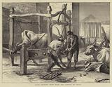 Rome, shoeing Oxen near the Temple of Vesta