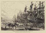 Towards the Close of Day, the Canada Timber Docks, Liverpool