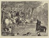 Stag Hunting in Surrey, taking the Deer, Shackleford Pond