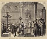 The Anglican Wedding Ceremony in the Alexander Hall of the Winter Palace, St Petersburg