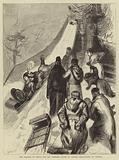 The Marquis of Lorne and the Princess Louise in Canada, tobogganing at Ottawa