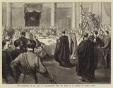 The Investiture of the Earl of Portarlington with the Order of St Patrick in Dublin Castle