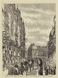 Arrival of the Prince of Wales in London, the Procession passing Grosvenor Mansions