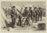 The War in the East, with the Russians, a Standard Guard in the Bulgarian Camp at Plojesti