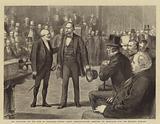 Mr Bradlaugh and the Oath of Allegiance, Captain Gosset, Sergeant-at-Arms, arresting Mr Bradlaugh …
