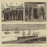 """The Reinforcements for India, Royal Visit to the """"Jumna"""" Troopship at Portsmouth"""
