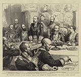 The Masonic Banquet at the Mansion House, the Prince of Wales proposing the Lord Mayor's Health