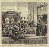 The Outrage on the Queen, Scene in the Assize Court, reading, during the State Trial of Roderick MacLean