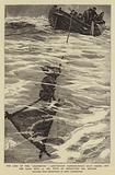 """The Loss of the """"Jeannette"""", Lieutenant Danenhower's Boat riding out the Gale, 12 September 1881 …"""