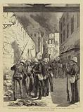 The Burning of Alexandria, British Marines arresting Arab Looters at the Custom House Gate