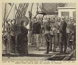 Troops for Egypt, Her Majesty the Queen bidding Adieu to the Officers of the Royal West Kent …