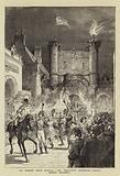 The Preston Guild Festival, the Torchlight Procession passing County Buildings