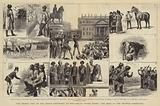 The Recent Visit of the Indian Contingent to England, at Stowe House, the Meet of the Grafton Foxhounds