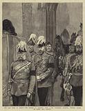 The Late Duke of Albany, the Arrival at Windsor, 4 April, the Procession entering Windsor Castle …