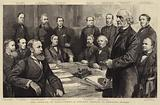 The Opening of Parliament, a Cabinet Council in Downing Street