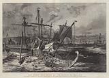 Old Greek War Ships at the Battle of Salamis