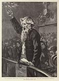 """In Darkest England"", General Booth lecturing on his Emigration Scheme"