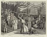 """The New Opera """"Ivanhoe"""" at the Royal English Opera House, the Tournament at Ashby-de-la-Zouch"""