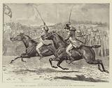 The House of Commons Steeplechase, a Close Finish in the Heavy-Weight Division