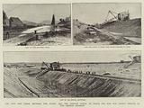 The New Ship Canal between the Baltic and the German Ocean, of which the Dam was lately pierced …