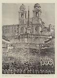 The Funeral of Lord Vivian at Rome, the Procession passing the Church of the Trinita dei Monti …