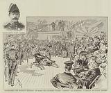 """Celebrating the Mikado's Birthday on Board the Japanese Cruiser """"Yoshino"""" at Plymouth, a Display of Native Fencing"""