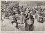 The Spanish-American War, distributing Food to the Starving Poor at Santa Cristina, Madrid