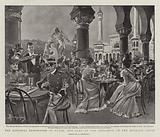 The National Exhibition at Turin, the Cafe at the Entrance to the Moorish Court