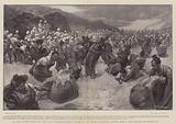 A Sack Tournament in the First Brigade Sports held at Ali Musjid, Gurkhas versus Sikhs and Punjabi Mahomedans