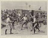 Detraining the Mules of the 32nd Field Battery Royal Artillery at the Atbara Camp