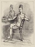 The Sirdar, Sir HH Kitchener, and his ADC, Bimbashi JK Watson