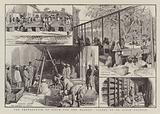 The preparation of opium for the market, scenes at an opium factory