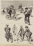 The latest craze in Paris, Lady Cyclists as seen at Longchamps