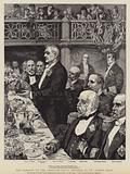 The banquet to the American naval officers at St James's Hall