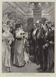 The reception at The Constitutional Club, to meet the Marquess and Marchioness of Salisbury