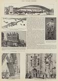 The construction of Tower Bridge, London