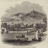 """Launch of """"The Lady of the Lake"""" Steamer, on Windermere"""