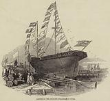 Launch of the Sultan's Steamer, at Cowes